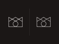Royal Camera logo vector highend classy photography camera crown