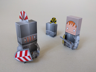 Knighty knight! Paper Toy papercraft illustrator vector paper toy knight