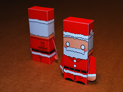 The Night Before Christmas v2 santa christmas paper design illustrator vector papercraft paper toy