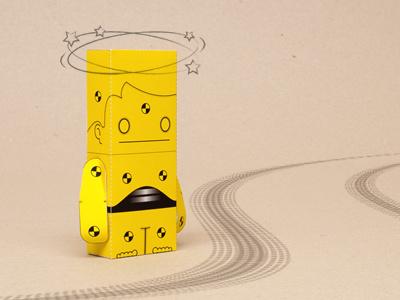 Just Bangin' Around vector paper papertoys illustrator papercraft crash test dummy