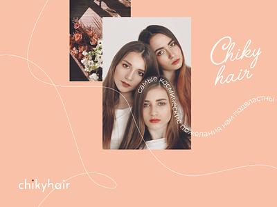 Chikyhair graphic design identity beauty hair