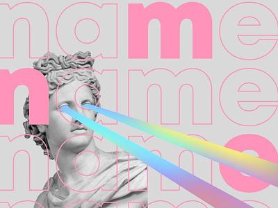 Name typography illustration graphic design sculpture