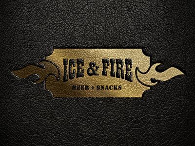 Logo Bar Ice and Fire beer bar logotype logo