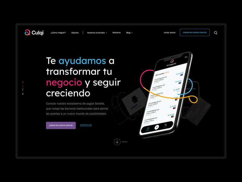 Culqi website UI dribbble user interface inspiration user experience branding ux ui digital design art direction