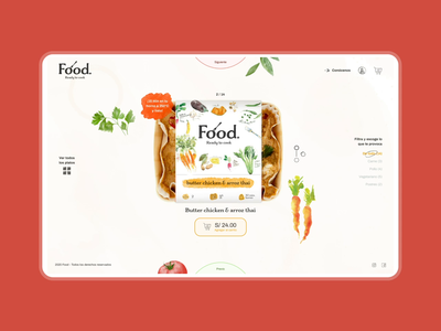 Food Menu Interaction interaction website animation motion ux ui user interface user experience digital design