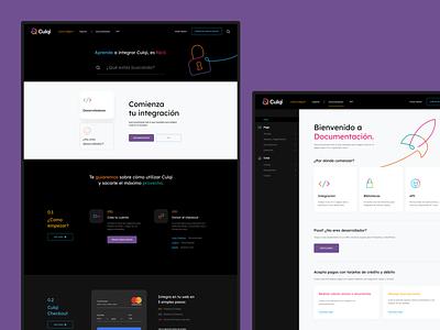 Culqi Website - Developers Dashboard website app art direction user interface user experience ux ui digital design