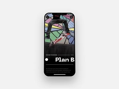 Skateboarding Store Mobile UI skater figma after effects mobile ui skateboard skate skateboarding app concept user experience user interface art direction inspiration ux ui digital design