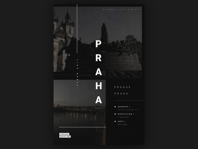 Unknown Places 002 // Prague dribbble concept city travel inspiration prague artwork art direction poster design design poster