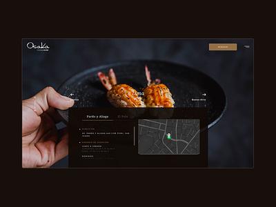 Osaka Nikkei Restaurant Website | Detail food app strategy food user interface peru travel dribbble user experience ux branding ui digital art direction inspiration design