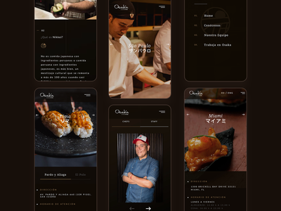 Osaka Nikkei Restaurant Website | Mobile peru food travel user interface user experience dribbble ux branding ui digital art direction inspiration design