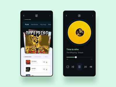 Music App UI Design punk invision studio application records music app music app design app internet branding concept user interface ux art direction ui digital inspiration design