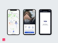 Parking Search App UI Design