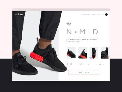 Sneaker store UI Visual Design