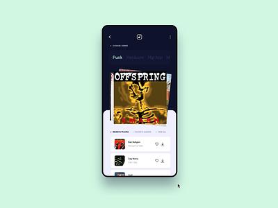 Music App UI Animation clean ui music app app android ios apple music artwork user interface user experience branding ui ux digital art direction inspiration design