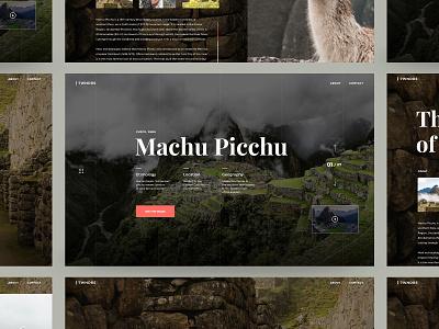 Machu Picchu Web UI Design web responsive inspiration travel website user experience user interface ux ui art direction design