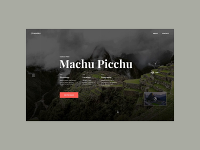 Machu Picchu Web UI Design // Animation peru concept travel motion animation digital user experience user interface ux ui art direction design