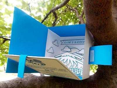 3D Zipline Invite invite design letterpress invite pop up