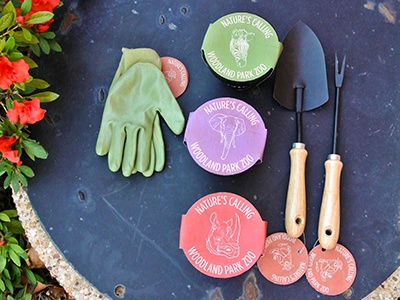 Nature's Calling fertilizer packaging gardening kit kit design package design animal fertilizer gardening