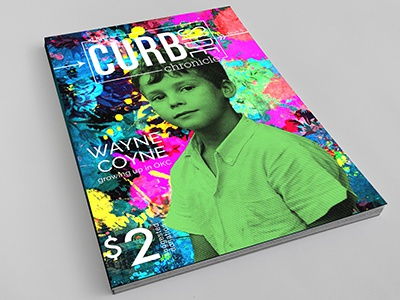 Curbside Chronicle Cover halftone magazine layout design magazine cover