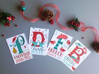 12 Days of Christmas Postcards