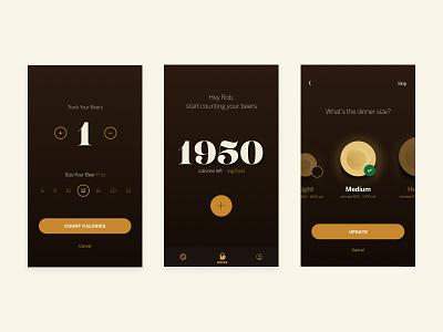 BeerDiet design art direction ux typography logo ui app