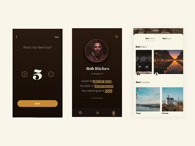 BeerDiet branding art direction typography feed activity design logo ux ui app