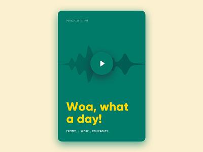 Journaling with audio ui ux app