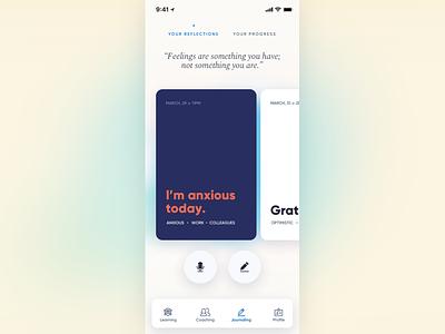 Journaling experience app ux ui