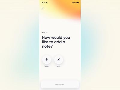 Audio notes app ux ui