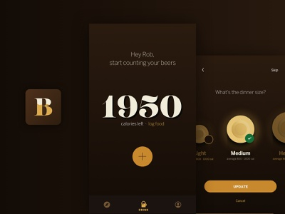 BeerDiet art direction identity design ux ui design app