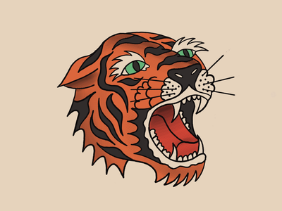 Cool Cats and Kittens tiger illustration procreate