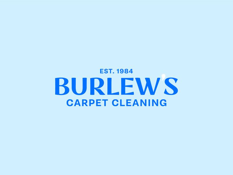 Burlew's Brandings design vector simple cincinnati navy branding typography logo carpet cleaning