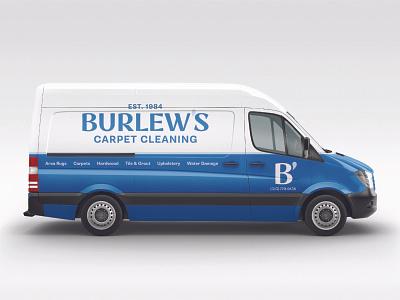 Burlews Truck Wrap rebound cincinnati navy carpet cleaning vehicle wrap typography