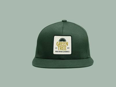 Green Tree Snapback Cap green branding icon badge simple logo hat