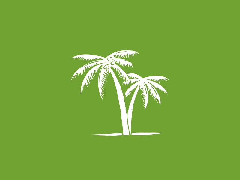 Palm Tree Icon wacom illustration green icon palm tree