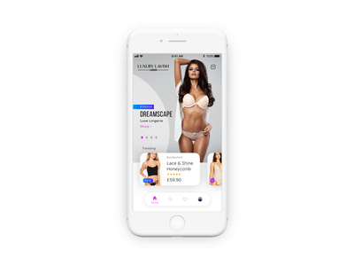 Luxury Lingerie Ecommerce app