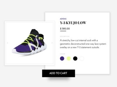 Y-3 type shop card shoe