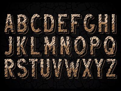 Desert Rock Font letters vector gif animated gif font awesome font family font design adobe illustrator vintage fonts cracked font