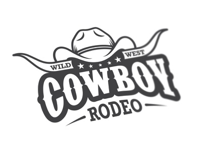 Cowboy rodeo logo wild west rodeo cowboy mustang desert american rancho logo emblem label