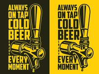 Beer poster with tap