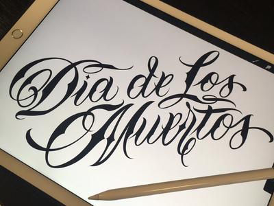 Lettering Dia de los muertos