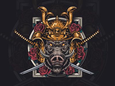 Samurai hog design