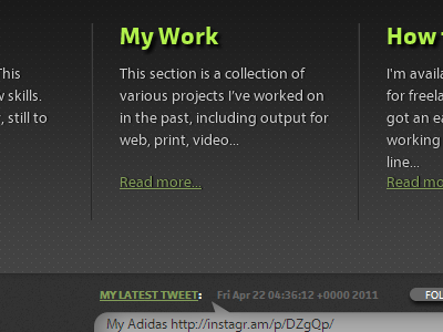 New design, in markup with web fonts font: myriad pro myriad pro font: facitweb redesign markup web fonts