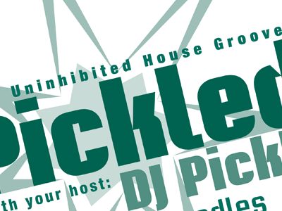 Old Stuff #3: dj party poster print layout