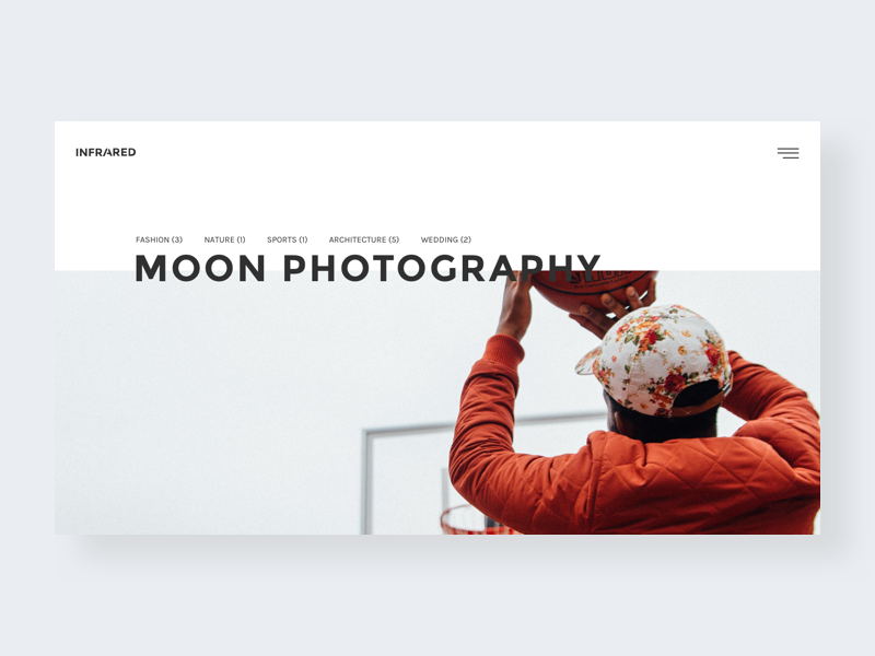 Infrared Homepage V3 Creative Photography Portfolio By