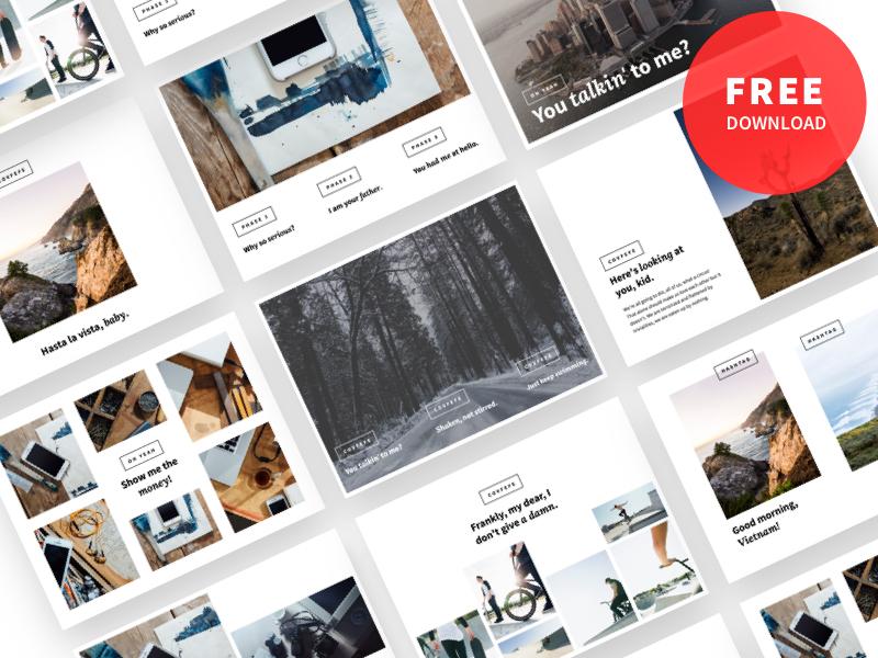 The Deck Stack moodboard keynote slides presentation proposal freelancer agency clean freebie free template pitch