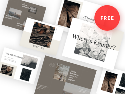 The Deck Stack II freelancer agency clean proposal presentation keynote slides slideshow moodboard template freebie free