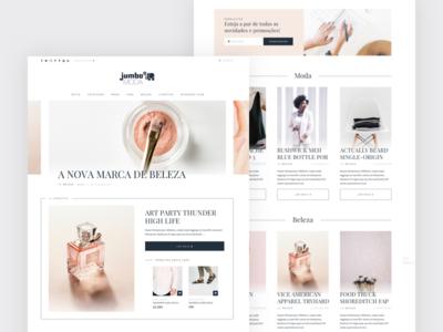 Jumbo Moda layout flat desktop typography minimal web fashion webdesign ui magazine clean website blog