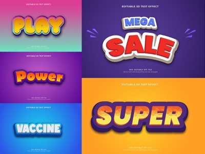 3D Text Effect Design typography 3d text effect 3d