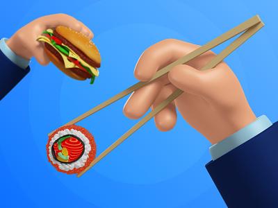 3D set of hands Mega Pack modeling render 3d food burger ui 3d rendering 3d modeling 3d ilustration 3d hands 3d graphics illustration design